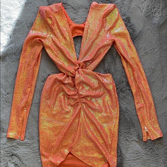 Fashion Nova Dresses & Skirts - Fashion Nova orange sequin dress